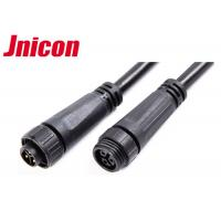 China 300V 10A Waterproof Cable Connector Male Female Over Molding With Screw Locking wholesale