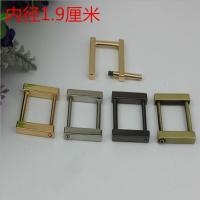 China Fancy gold can detachable 19 mm metal rectangle square buckles for handbag wholesale