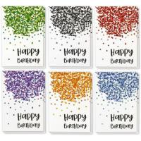 China Paper Holiday Greeting Cards , Confetti Design Birthday Greeting Cards wholesale