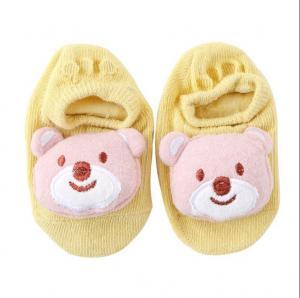 China Hot sell summer baby bow socks with cute animal pattern anti-slip socks wholesale