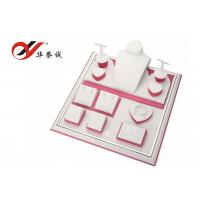 China Free Sample Jewellry Display Stands , Pink PU Leather Display Cases For Jewelry wholesale