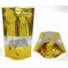 China Gold Orangic Food Metalized Resealable Stand Up Ziplock Bags PET / PETVM / PE wholesale