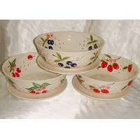 China Food Safe Ceramic Houseware 8 Inch Saucer Ceramic Colander Fruit Bowl on sale