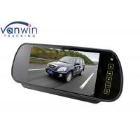Black 7 Inch Car Rear View Mirror Monitor TFT Screen for Vehicle MDVR Kit Manufactures