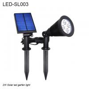 China 2W IP44  black spike waterproof outdoor solar LED light & Solar led garden light wholesale