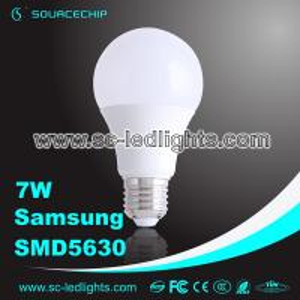 China 7W SMD5630 LED bulb lamp A65 E27 led light bulb manufacturer wholesale