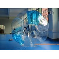 China 0.7mm TPU 1.5m Inflatable bumper ball Blue Striped  with  CE / EN14960 / EN71 / SGS on sale