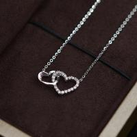 China 18K White Gold Moissanite Necklace With Round Brilliant Cut Shape wholesale