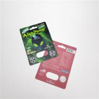 China Enhances Sexual Drive Blister Paper Card Alien Power / Swag Capsules Packaging wholesale