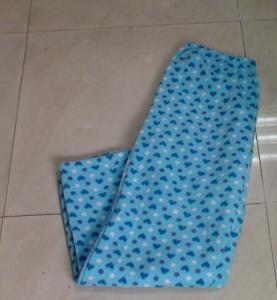 China White Dot Ladies Pajama Sets - Brushed Fleece Sleep Pant With Front Pocket on sale