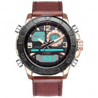 Buy cheap Leather Strap dual Time display analog digital watch best mens sport watches 3 from wholesalers