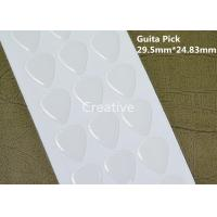 China Guitar Pick Clear Epoxy Stickers / Crystal Clear Epoxy Resin 29.5mm X 24.83mm wholesale