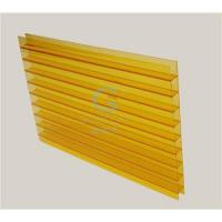 China Polycarbonate Twin-wall sheet Orange color on sale