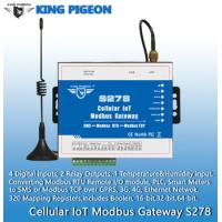 China S278 Cellular IoT Modbus Gateway(4DIN,2Relay,1TH,USB,RJ45,RS485,320 Mapping Registers) wholesale