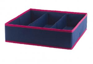 """China 14.17x14.17x3.93"""" 3 Cell Foldable Drawer Organizer wholesale"""