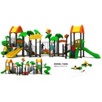 China Classic Outdoor Custom Playground Equipment , Climbing Frame With Slide EN1176 Certified wholesale