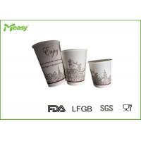Recyclable Takeaway Coffee Cups  , Disposable Drinking Cups With Plastic Lids