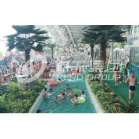 China Air blower Material Water Park Lazy River Swimming Pool 3m-6m Width 1m Depth / Customized Water Slide wholesale