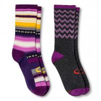 China Women's Lifestyle Gray/Black Rugby Stripes Crew Socks wholesale