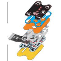 China Metal Dome PCB Backlit Waterproof Membrane Switch IP67 With Silicone Keypad wholesale