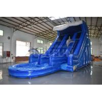 China EN14960 certified commercial 18ft dolphin inflatable water slide prices clearance for sale PVC material wholesale