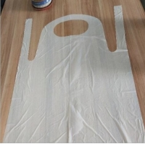 China Restaurant Kitchen Biodegradable Disposable Aprons , PE CPE  Blue Plastic Apron wholesale