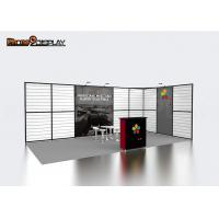 China Portable Slatwall Trade Show Booths 10x20 , Aluminum Extrusion Modular Exhibition Booth wholesale