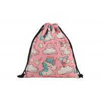 China Canvas Drawstring Bag Backpack Embroidery Printing With Your Design For Sale wholesale