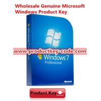 China Genuine Windows 7 Product Key Codes, Microsoft Windows 7 Professional FPP Online Activate Key for 32/64 bit wholesale