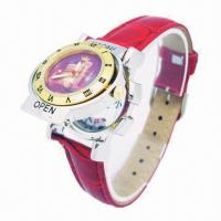 China Fashion Men's Leather Watch with Interchangeable Alloy Case and Leather Strap, 20% Price Off wholesale