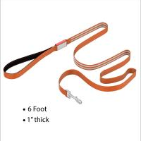 China Three Colors LED Dog Leash 6 Ft Long Padded Handle With 4 Hours Working Time wholesale