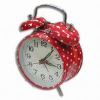 China Alarm Clock with Flower Design Printing, OEM Orders Welcome wholesale