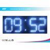 China Custom 7 Segment White Led Digital Clock With Temperature Display wholesale