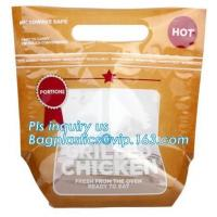 China Plastic ziplock bag for chicken packing/microwaveable chicken bags/anti-fog plastic, Roast chicken package bag wholesale