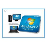 China Windows 7 Professional Full Retail Version 32 & 64 Bit With Genuine Key wholesale