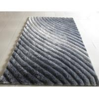 China 3D Polyester Silk Shaggy Carpet & Rug(3228) Wave Shaggy Gradient colors colorful beautiful for home decoration wholesale