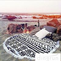 China Adults Colorful Round 100 cotton beach towels Large Size 150cm Dry Fast wholesale