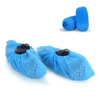 China Anti-Slip Disposable Blue Shoe Cover on sale