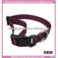 China 2018 new design 1 width nylon webbing dog collar &lead set assorted colors and sizes wholesale