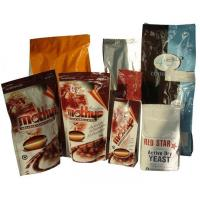 China PET Zip-Lock Plastic Coffee Bags with Bottom Gusset wholesale