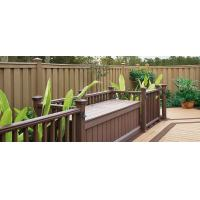 China Anti - UV Sandalwood / Coffee WPC Fence Panels For Landscape And Building wholesale