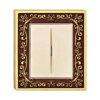 China Forged Brass One Gang One Way Wall Switch With Classic Patterns And LED Indicator wholesale