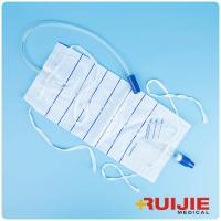 China urine bag PVC material pediatric 2000ml Dispasable Urine Bag with Leg on sale