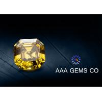 China VVS1 Colored Asscher Cut Moissanite 9mm Synthetic Moissanite Yellow wholesale