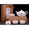 China 5 Pcs Ceramic Tea Sets For Adults , Customize Ceramic Teapot Travel Suit wholesale