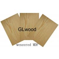 China 1220mm x 2440mm Real Wood Faced Veneer MDF ,  Melamine Medium Desity Fiberboard wholesale