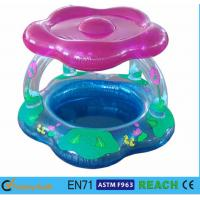 China Sun Shade Type Inflatable Swimming Pool Toddler PVC Pool With Blue Print wholesale