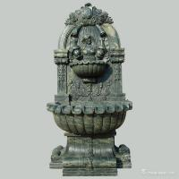China Green Marble Stone Carving Sculpture Wall Fountain , Garden Sculptures Stone on sale
