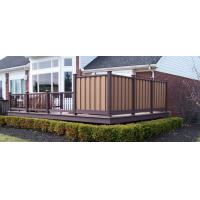 China Zero Formaldehyde Cedar WPC Fence Panels With Wood Grain Finish High Impact Resistant wholesale