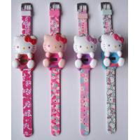 Quality PLASTIC HELLO KITTY KEYCHAIN LCD WATCH for sale